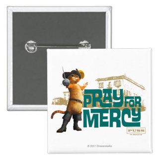Pray for Mercy (blue) 2 2 Inch Square Button