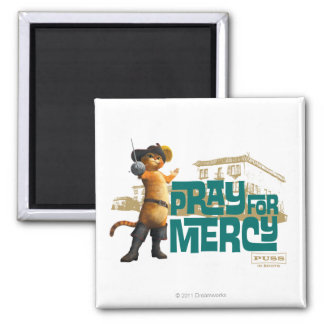 Pray for Mercy (blue) 2 2 Inch Square Magnet