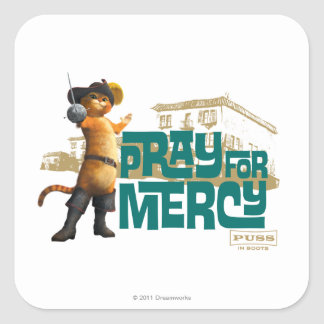 Pray for Mercy (blue) 2 Square Sticker