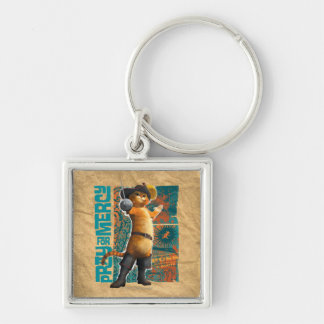 Pray for Mercy (blue) Silver-Colored Square Keychain