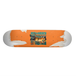 Pray for Mercy (blue) Skateboard