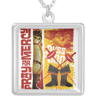Pray for Mercy (red) Silver Plated Necklace