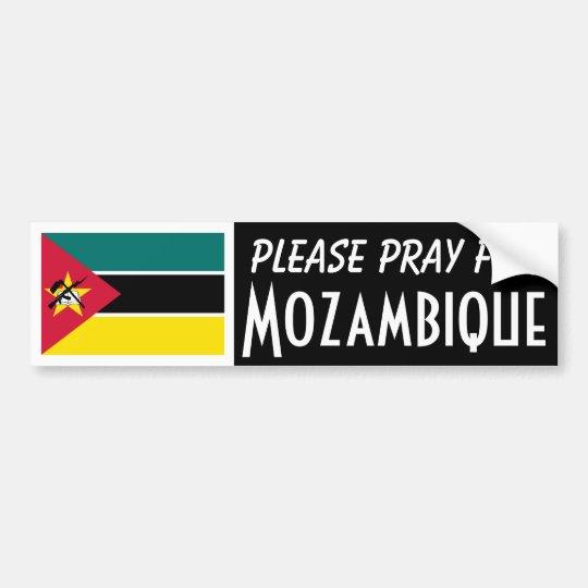 Pray For Mozambique Bumper Sticker Zazzle Com