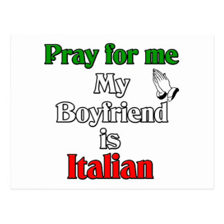 Pray for My Boyfriend is Italian Postcard
