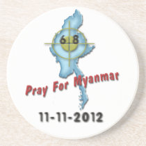 Pray For Myanmar Coasters