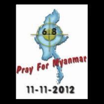 Pray For Myanmar Postcard
