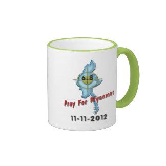 Pray For Myanmar Ringer Coffee Mug