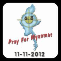 Pray For Myanmar Square Sticker