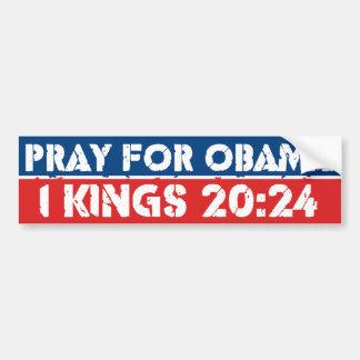 Pray for Obama Car Bumper Sticker