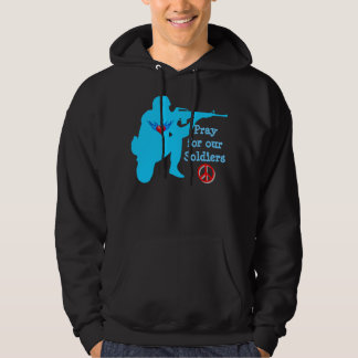 pray for our soldiers mens hoodie