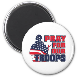 Pray For Our Troops 2 Inch Round Magnet