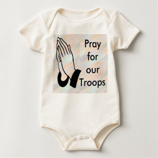 Pray for our troops infant onsie creeper