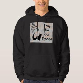 Pray for our troops mens hoodie