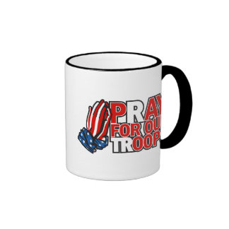 Pray for Our Troops - Pay for our 'oops' Ringer Coffee Mug