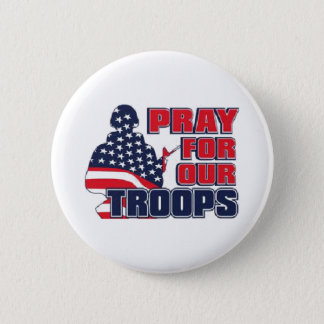 Pray For Our Troops Pinback Button
