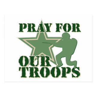 Pray for our troops postcard