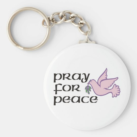 Pray For Peace Keychain