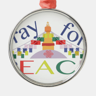 Pray For Peace Metal Ornament