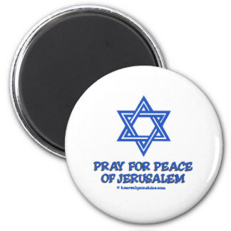 Pray for Peace of Jerusalem 2 Inch Round Magnet