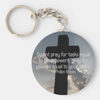 Pray for power to achieve (2) keychain