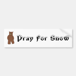 Pray For Snow Bumper Stickers
