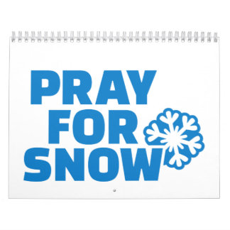 Pray for snow wall calendar