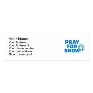 Pray for snow mini business card