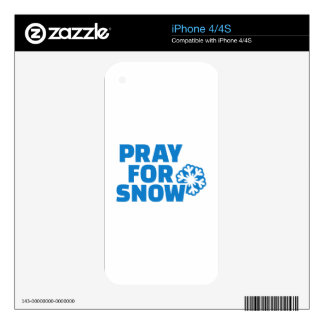 Pray for snow decals for the iPhone 4