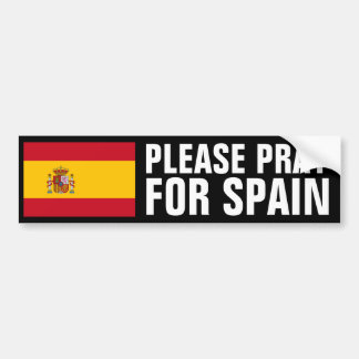 Pray for Spain Bumper Sticker