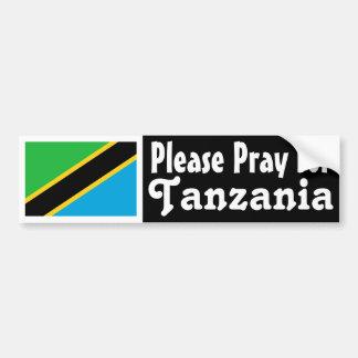 Pray for Tanzania Bumper Sticker