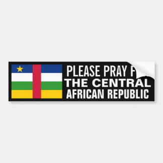 Pray for the Central African Republic Car Bumper Sticker