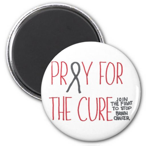 Pray for the Cure Brain Cancer Awareness Magnet