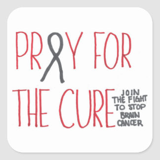 Pray for the Cure Brain Cancer Awareness Sticker