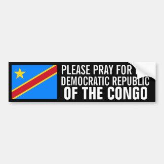 Pray for the DROC Bumper Sticker