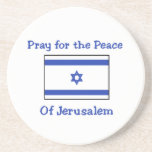 Pray for the Peace of Jerusalem Drink Coaster