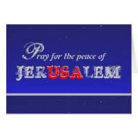Pray for peace cards greeting photo cards zazzle pray for the peace of jerusalem greeting card m4hsunfo Images