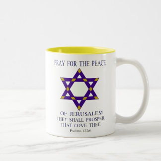 Pray for the peace of Jerusalem Coffee Mugs