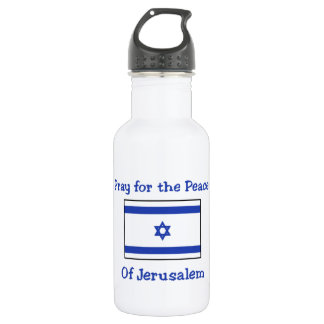 Pray for the Peace of Jerusalem Water Bottle