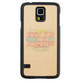 Pray for the Philippines Carved® Maple Galaxy S5 Case