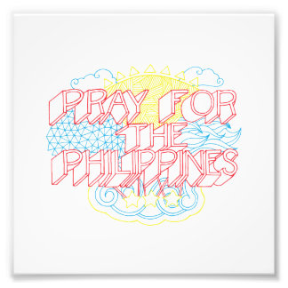 Pray for the Philippines Photographic Print