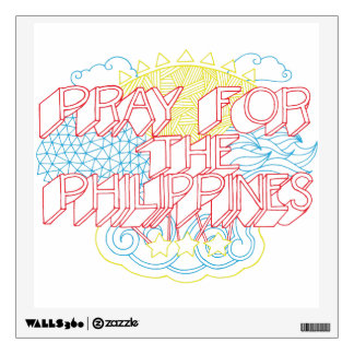 Pray for the Philippines Wall Sticker