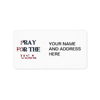 Pray for the U.S.A. Label