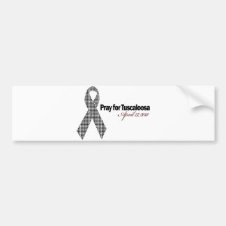 Pray For Tuscaloosa Alabama (Houndstooth) Bumper Sticker