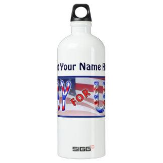 """""""Pray for USA"""" Aluminum Water Bottle"""