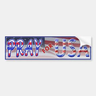 Pray for USA Bumper Sticker