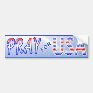 PRAY FOR USA BUMPER STICKER CAR BUMPER STICKER