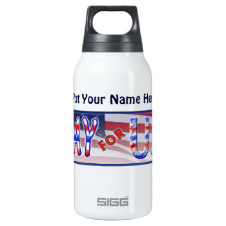 """Pray for USA"" Insulated Water Bottle"