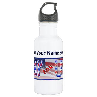 """Pray for USA"" Water Bottle"