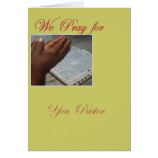 Pray for you Pastor Card