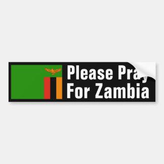 Pray for Zambia Bumper Sticker